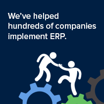 We've helped hundreds of companies implement ERP graphic.