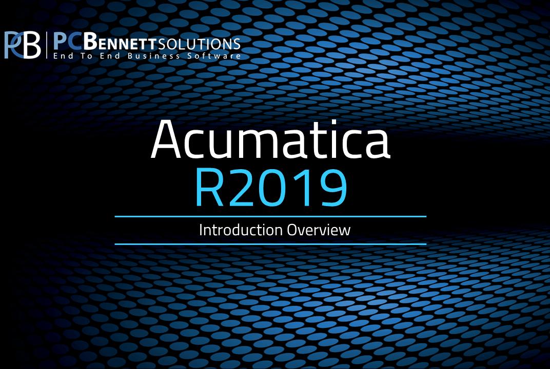 Acumatica Cloud ERP Overview