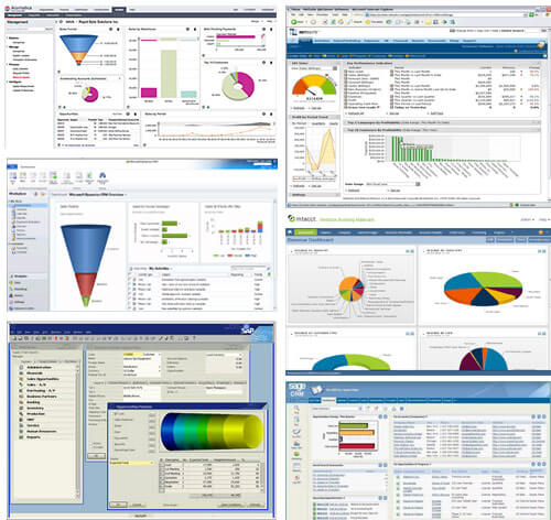 ERP CRM Dashboards