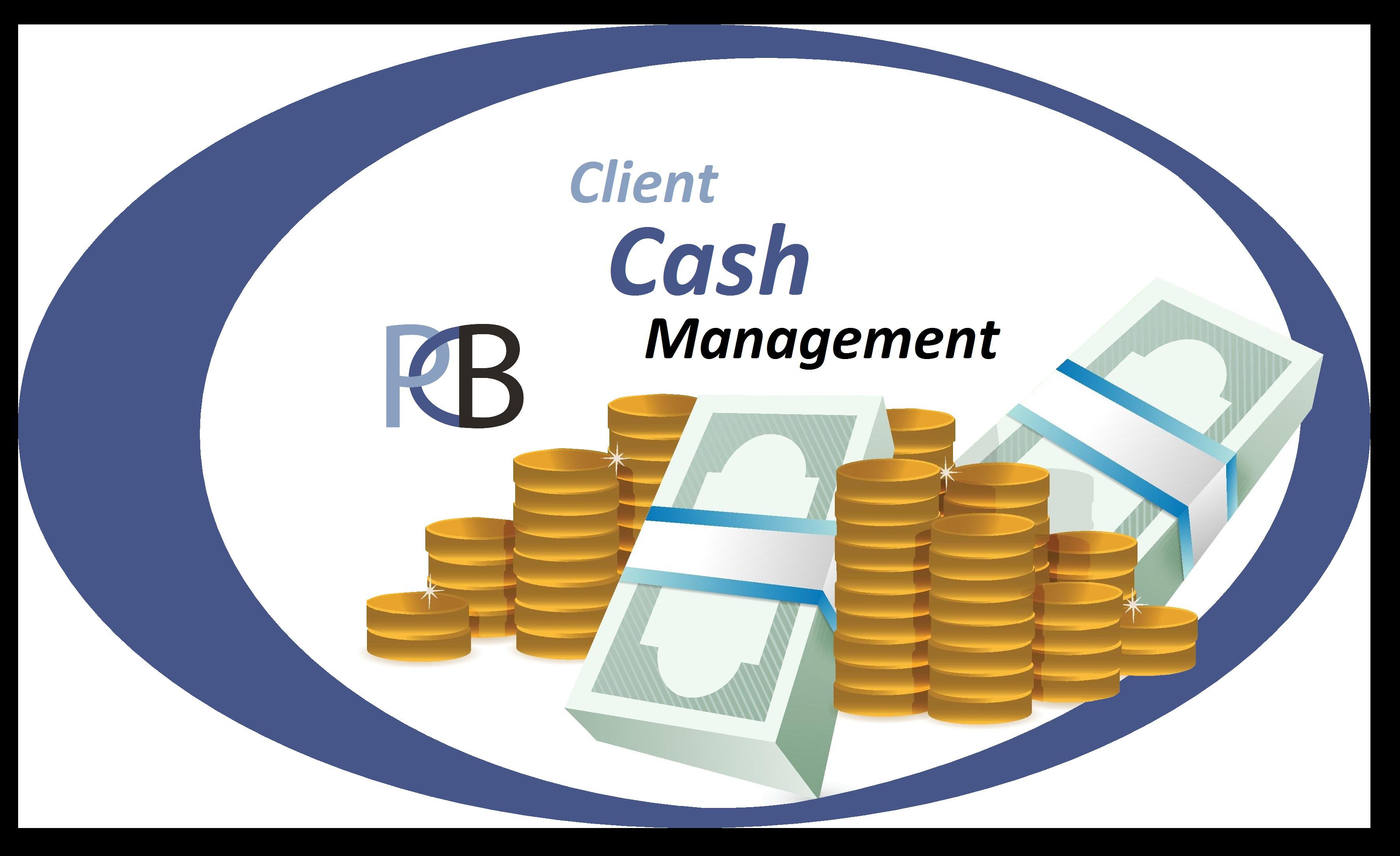 Client, Cash, Management logo.