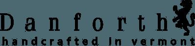 Danforth handcrafted in Vermont logo.