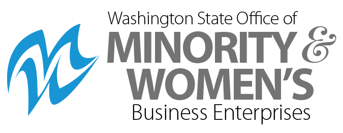 Washington State Office Of Minority Women's Business Enterprises logo.