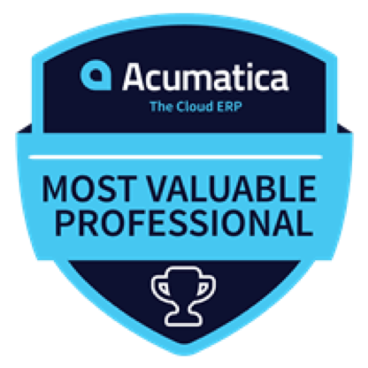 PC Bennett award for Acumatica ERP MVP.