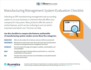 Manufacturing Management System Evaluation Checklist - Thumbnail