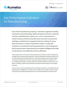 Acumatica Whitepaper - Manufacturing KPIs Thumbnail.