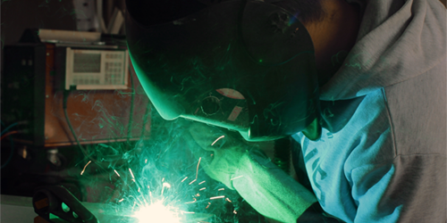 Picture of Man Welding