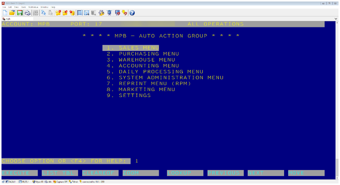 Auto Action Group screenshot.