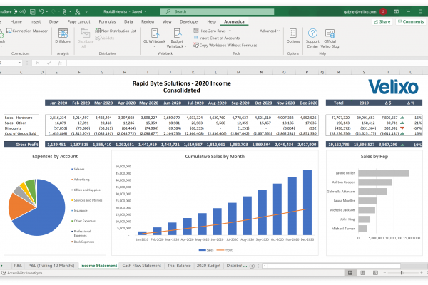Velixo Reports is an Excel-based reporting tool.
