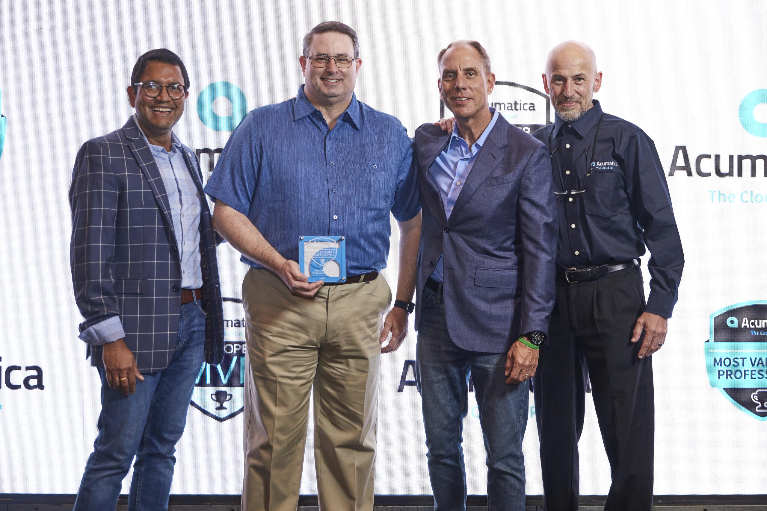 PC Bennett team receives an award.